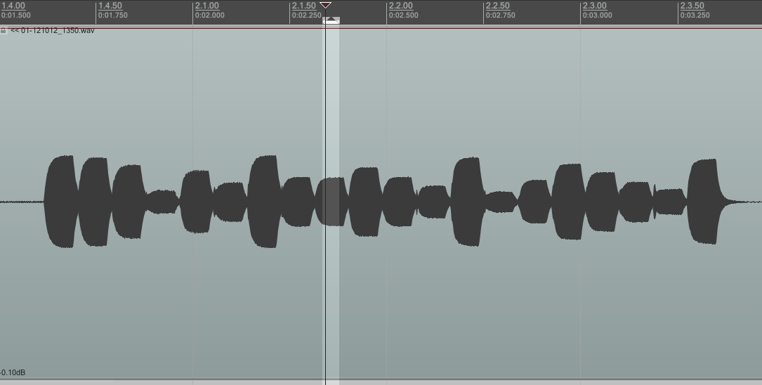 The full waveform of a single chirp