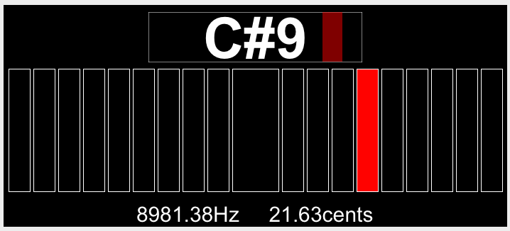 The fourth segment of the chirp was about 8981Hz